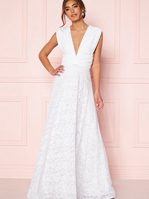 Goddiva Lace Multi Tie Maxi Dress