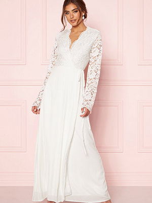 John Zack Lace Bodice Wrap Dress