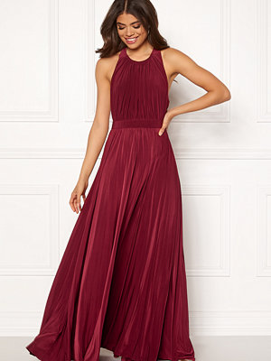 Goddiva Pleated High Neck Dress