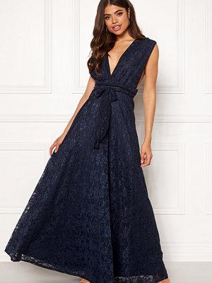 Goddiva Lace Multi Tie Maxi Dress