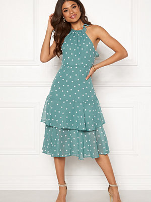 Vila Yrsa Dot S/L Midi Dress