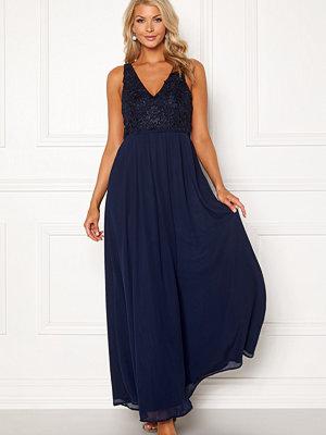 Ax Paris V Neck Lace Bodice Dress