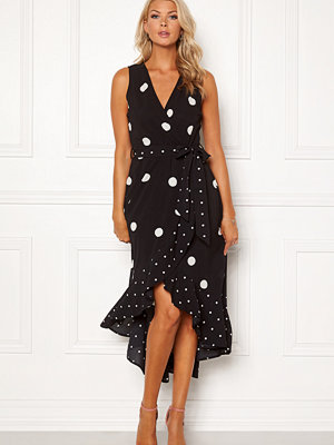 Ax Paris Polka Dot Wrap Maxi Dress