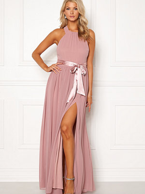 Goddiva Cross Back Chiffon Dress