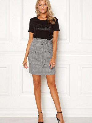 Kjolar - Object Lisa Abella Mini Skirt Gardenia/Checks