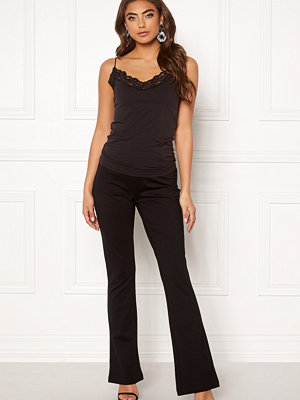 Object svarta byxor Nicky Long Flared Pant