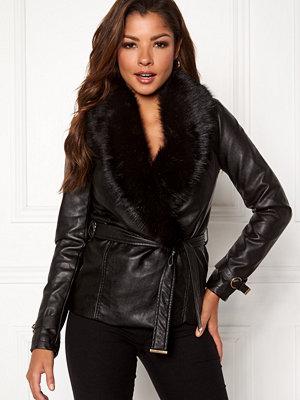Chiara Forthi Positano Faux Fur Collar Jacke