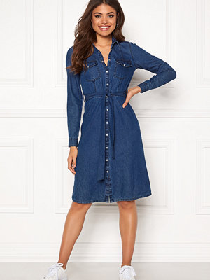 Happy Holly Doris denim dress Dark denim