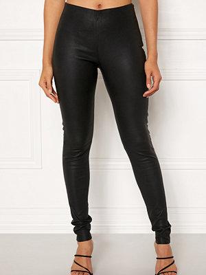 Leggings & tights - Object Tilde MW Leather Leggings