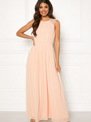 Ax Paris Lace Trim Chiffon Maxi Dress