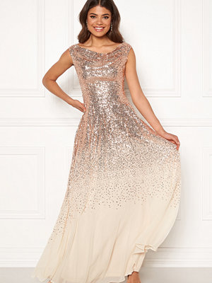 Goddiva Sequin Chiffon Maxi Dress