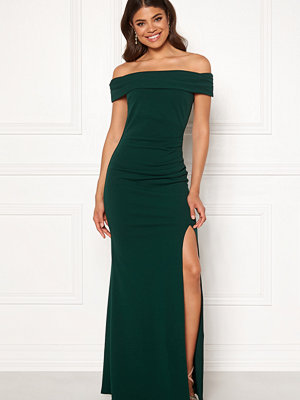Goddiva Off Shoulder Pleat Dress