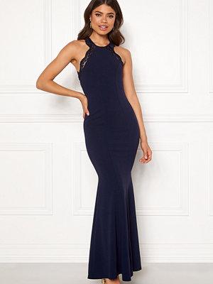 Goddiva Lace Fishtail Maxi Dress