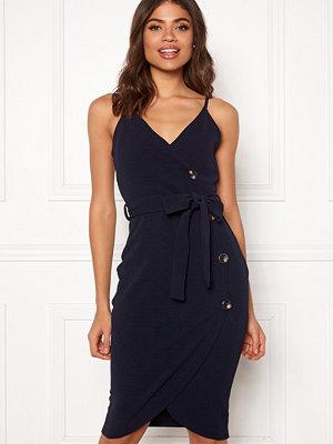 Ax Paris Button Front Tie Dress