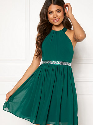 Goddiva Halterneck Skater Dress