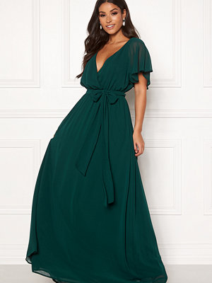 Goddiva Sleeve Chiffon Maxi Dress