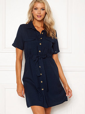 Blue Vanilla Button Shirt Dress