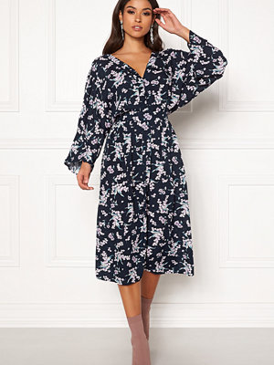Blue Vanilla Floral Kimono Midi Dress