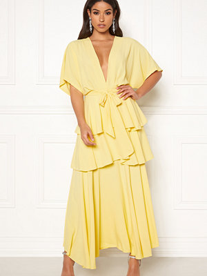 John Zack Kimono Sleeve Maxi Dress Lemon