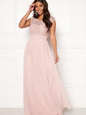 Goddiva Chiffon Maxi Flower Dress