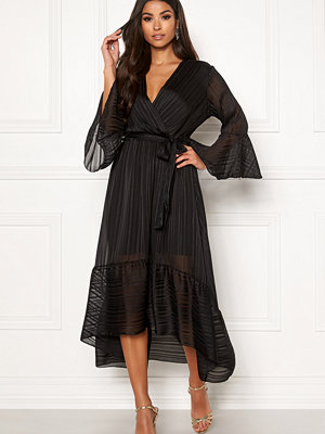 John Zack Wrap Front High Low Dress