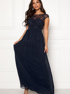 Goddiva Chiffon Maxi Flower Dress