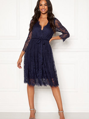 Goddiva Scallop Lace Skater Dress