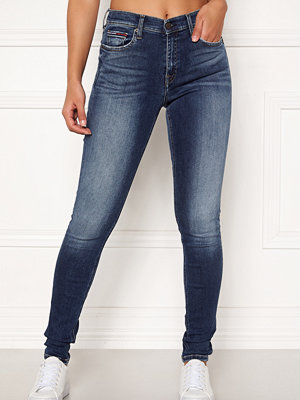 Tommy Jeans marinblå byxor Mid Rise Skinny Nora