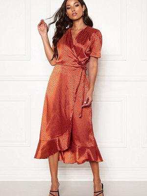 John Zack Short Sleeve Wrap Dress
