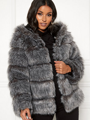 AMO Couture Roma Faux Fur Hood Coat