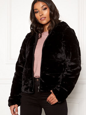 Only Chris Fur Hooded Jacket