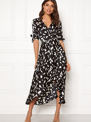 Ax Paris Wrap Front Printed Dress