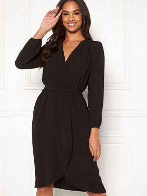 Ax Paris Long Sleeve Wrap Dress