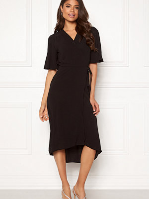 John Zack Flared Wrap Midi Dress