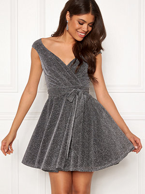 Goddiva Lurex Skater Dress