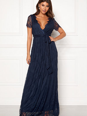 Goddiva Scallop Lace Maxi Dress
