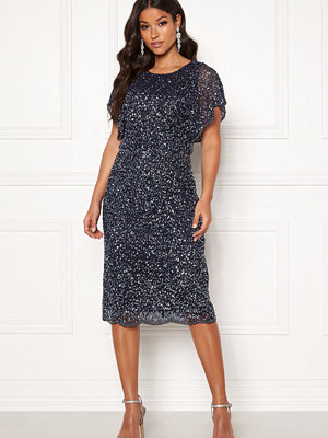 Angeleye Scallop Sequin Midi Dress