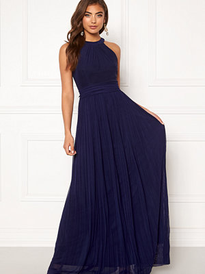 Moments New York Linnea Pleated Gown Navy
