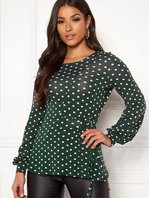 Happy Holly Gianna top Dark green / Dotted