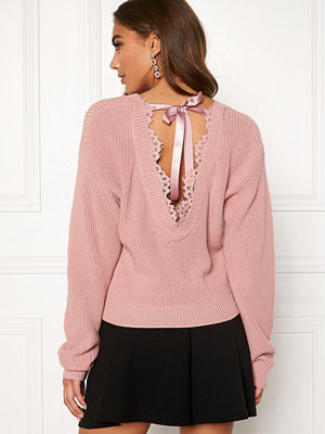 Tröjor - Bubbleroom Callie lace neck knitted sweater