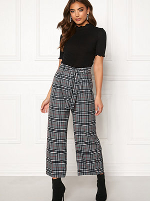 Bubbleroom grå rutiga byxor Felicia trousers
