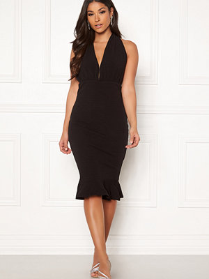 Ax Paris Halter Neck Frill Dress