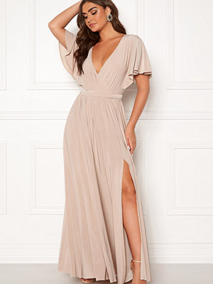 Goddiva Flutter Sleeve Maxi Dress