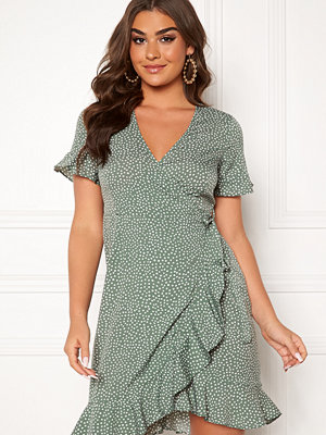Vero Moda Henna 2/4 Wrap Dress Laurel Wreath