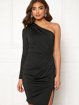 Bubbleroom Meryam one shoulder dress Black