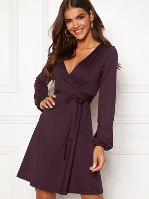 Chiara Forthi Sonnet puff sleeve wrap dress