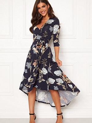 Chiara Forthi Tara 3/4 Sleeve Highlow Dress Dark navy / Floral