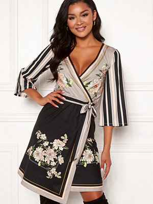 Chiara Forthi Marienela Scarfs Print Dress 3/4 Sleeve