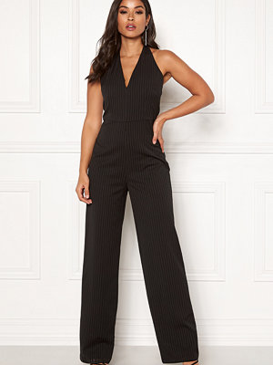 Make Way Veralii halterneck jumpsuit Black / White / Striped