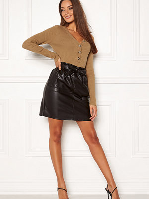 Only Rigie HW PU Paper Bag Skirt